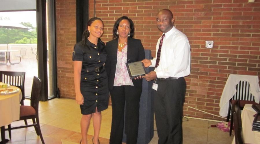 NFC Dinner. Board member awards. Sept 2011