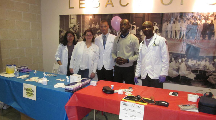 The NFC students at the Howard University Health Fair on Saturday, April 2011.
